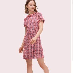 🎀 Kate Spade ♠️ Multi Tweed Dress Perfect Peony